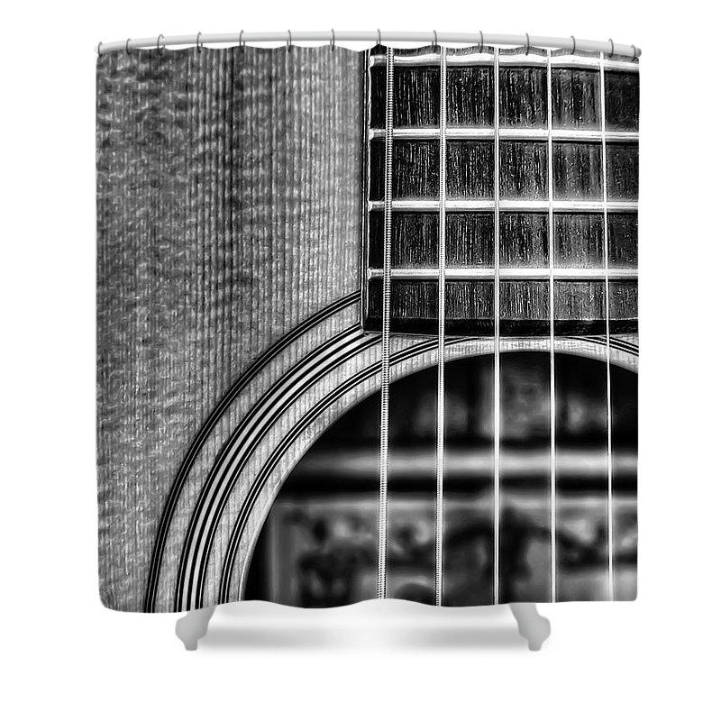 Macro Shower Curtain featuring the photograph Alvarez Yairi by Scott Norris