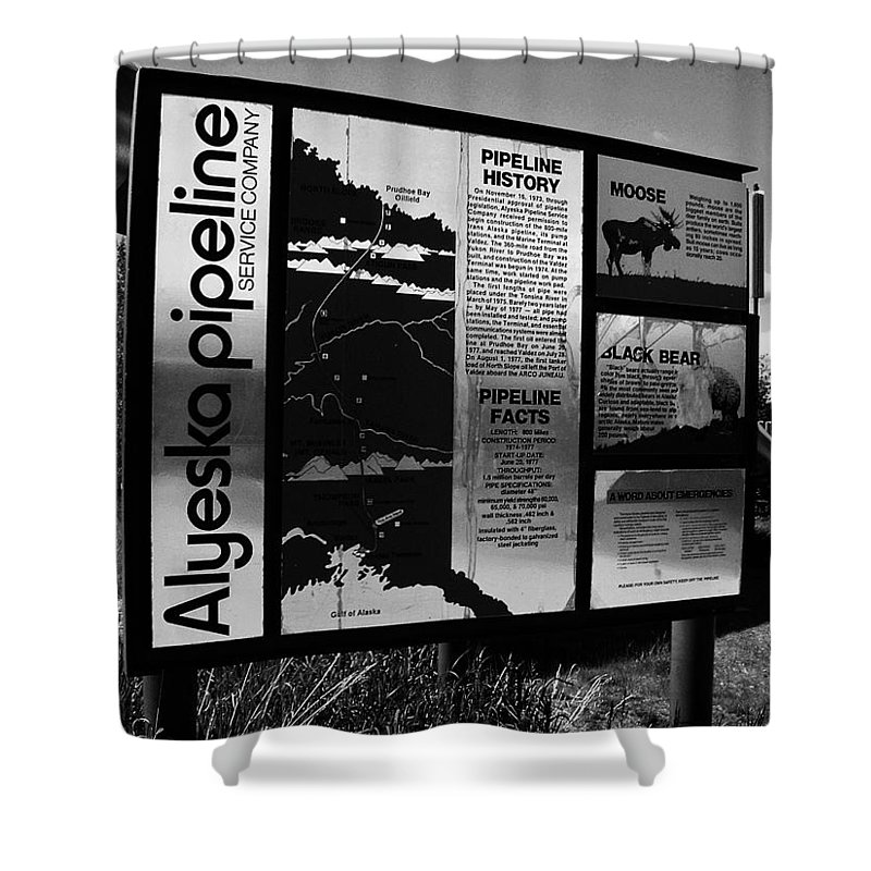 North America Shower Curtain featuring the photograph Alyeska Pipeline by Juergen Weiss
