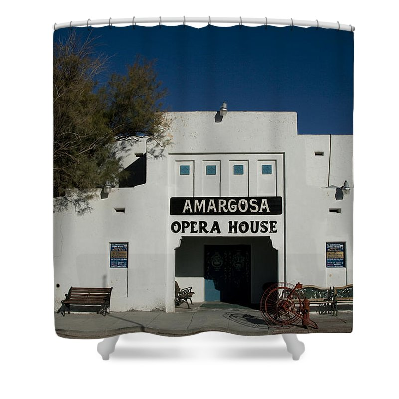 Amargosa Shower Curtain featuring the photograph Amargosa Opera House Death Valley Img 0021 by Greg Kluempers