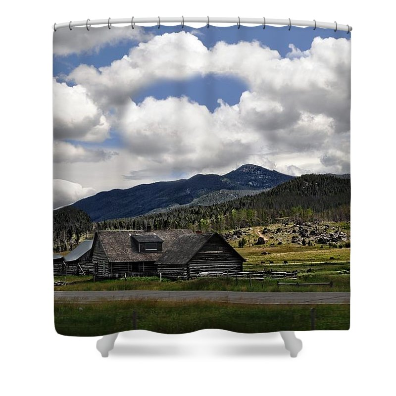 Barn Shower Curtain featuring the photograph Amazing Clouds by Image Takers Photography LLC