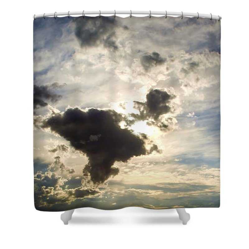 Air Shower Curtain featuring the photograph Amazing Sky by Tim Hester