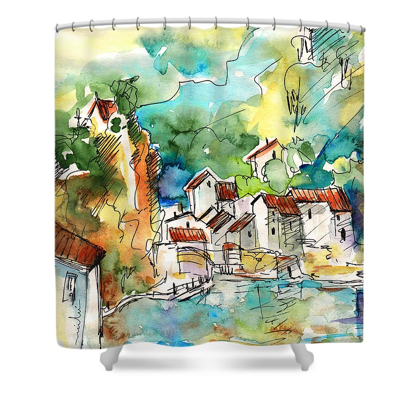 Travel Shower Curtain featuring the painting Ambialet 02 by Miki De Goodaboom