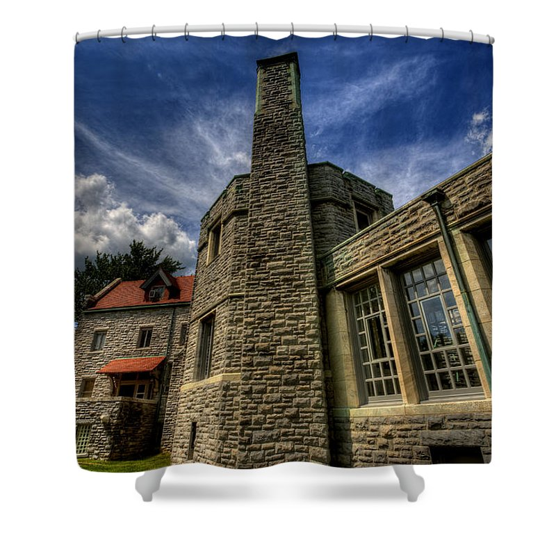 Castle Shower Curtain featuring the photograph American Castle by David Dufresne