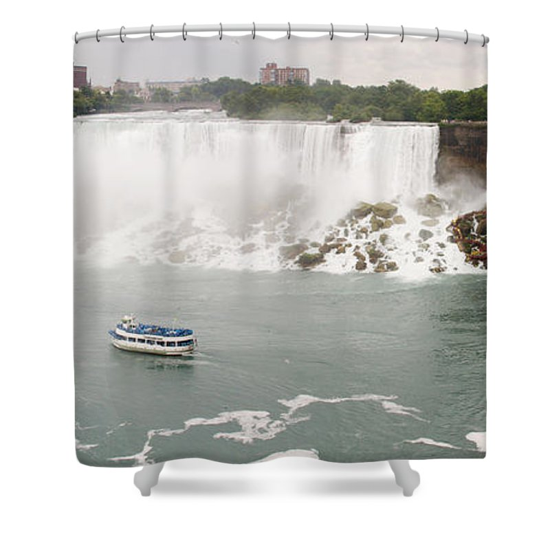 3scape Photos Shower Curtain featuring the photograph American Falls by Adam Romanowicz