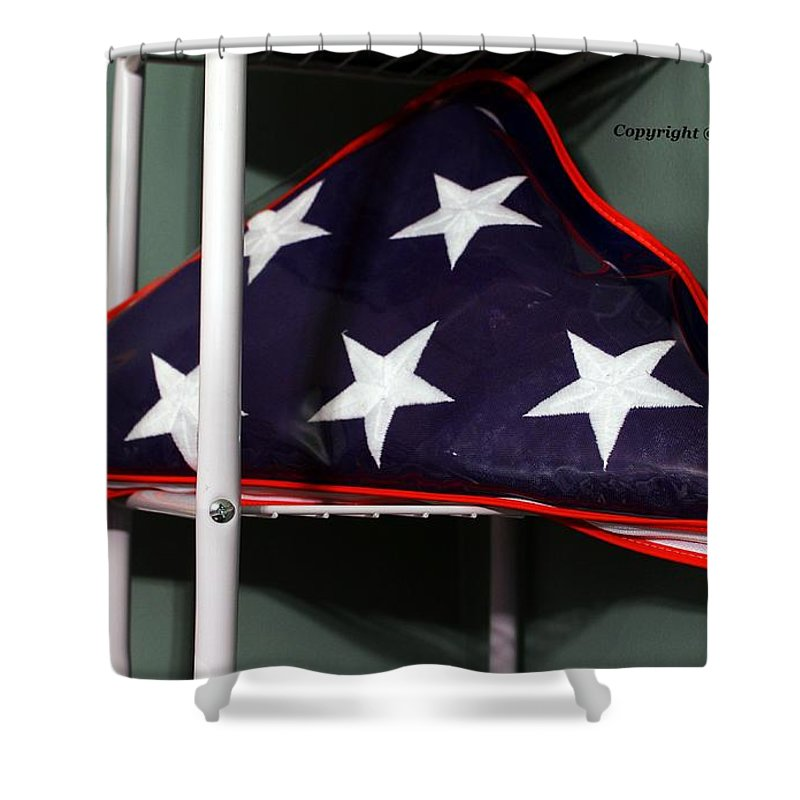 American Shower Curtain featuring the photograph American Flag by Karl Rose