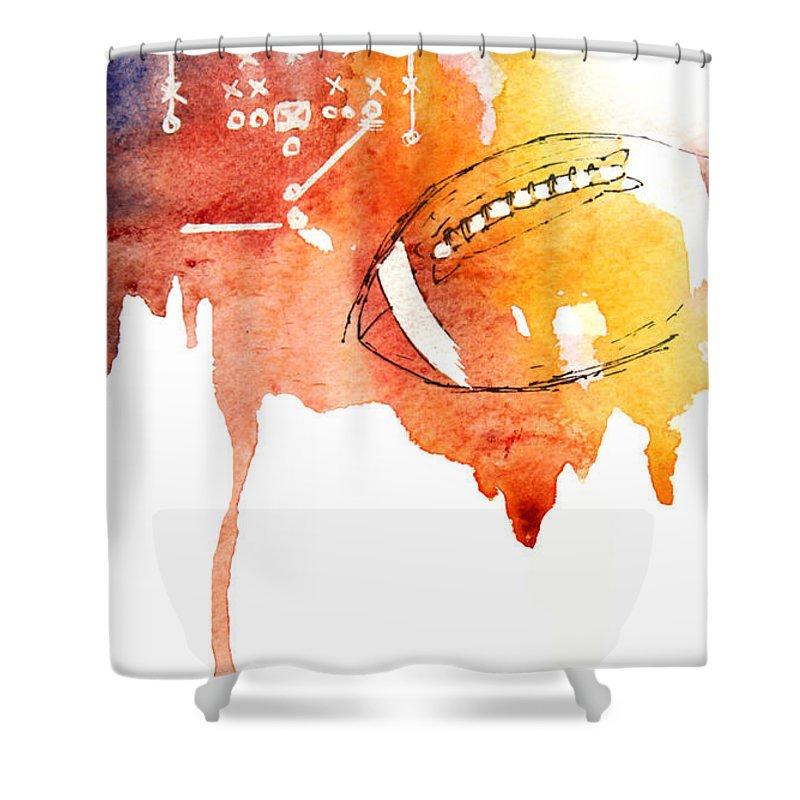 American Football Shower Curtain for Sale by Mahsa Watercolor Artist