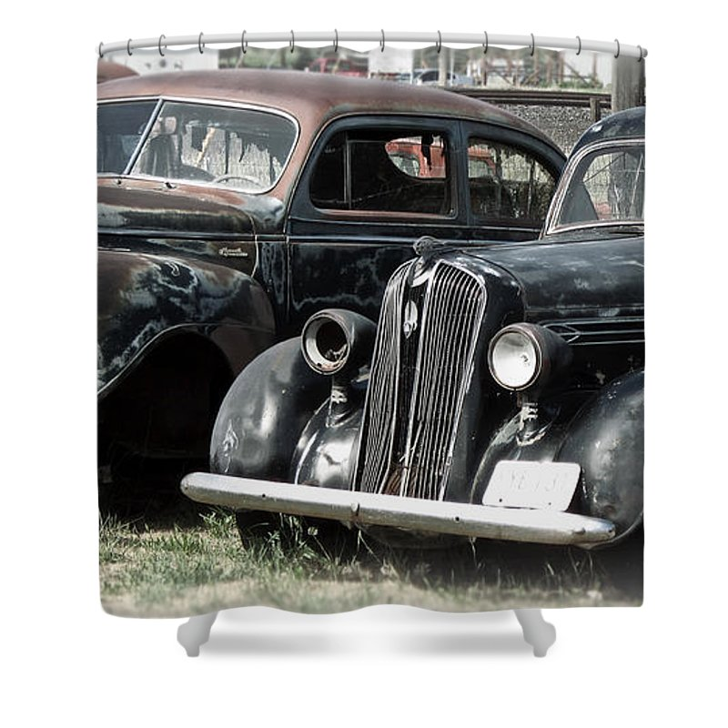 Packard Shower Curtain featuring the photograph American History by Daniel Hagerman