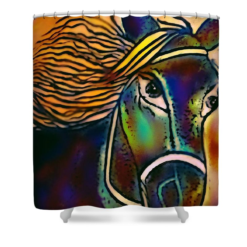Amigos Shower Curtain featuring the digital art Amigos by Pikotine Art