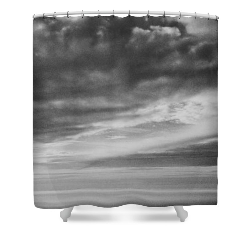 Among The Clouds Ii Shower Curtain featuring the photograph Among The Clouds II by Anita Lewis