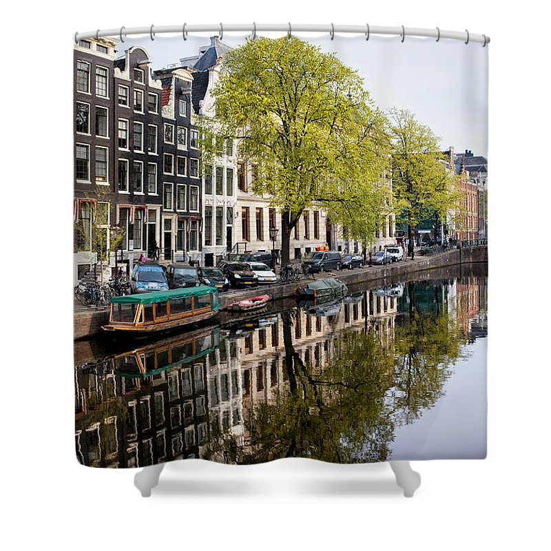 Amsterdam Shower Curtain featuring the photograph Amsterdam Canal In Spring by Artur Bogacki