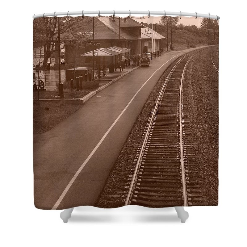 Amtrak Shower Curtain featuring the photograph Amtrak Departure by Michael Moore