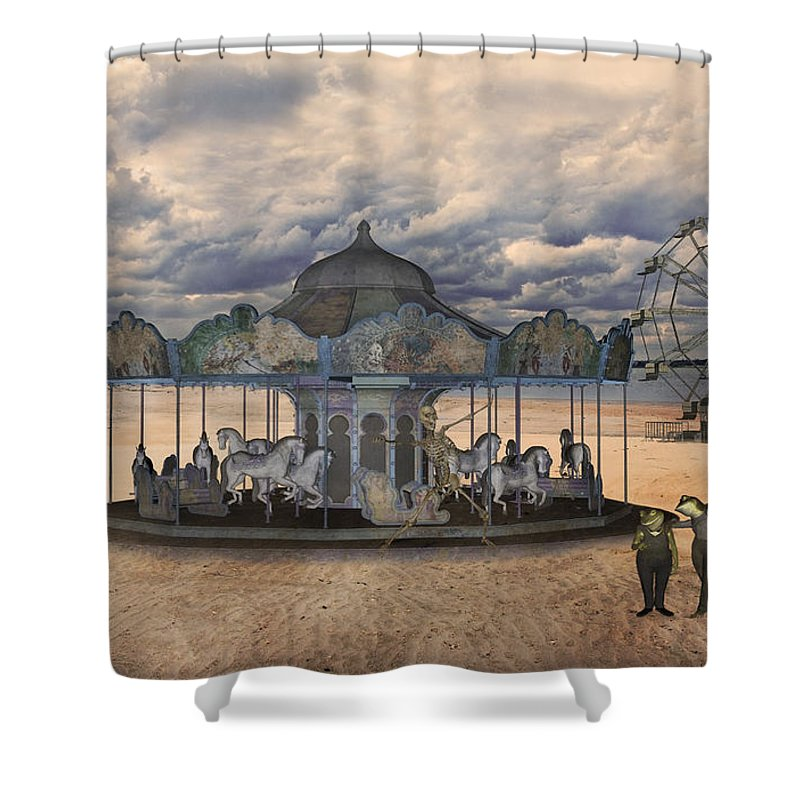 Carousel Mixed Media Shower Curtains
