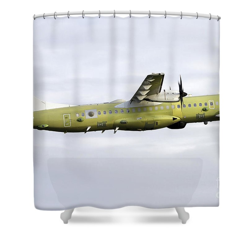 Aircraft Shower Curtain Featuring The Photograph An Atr 72 600 Maritime Patrol By Luca