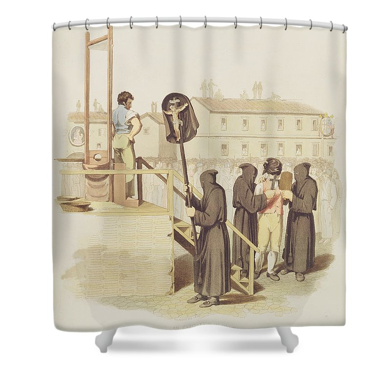An Execution In Rome For Murder 1820 Shower Curtain For Sale By