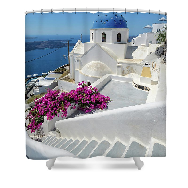 Steps Shower Curtain featuring the photograph Anastasi Church by Photography By Maico Presente