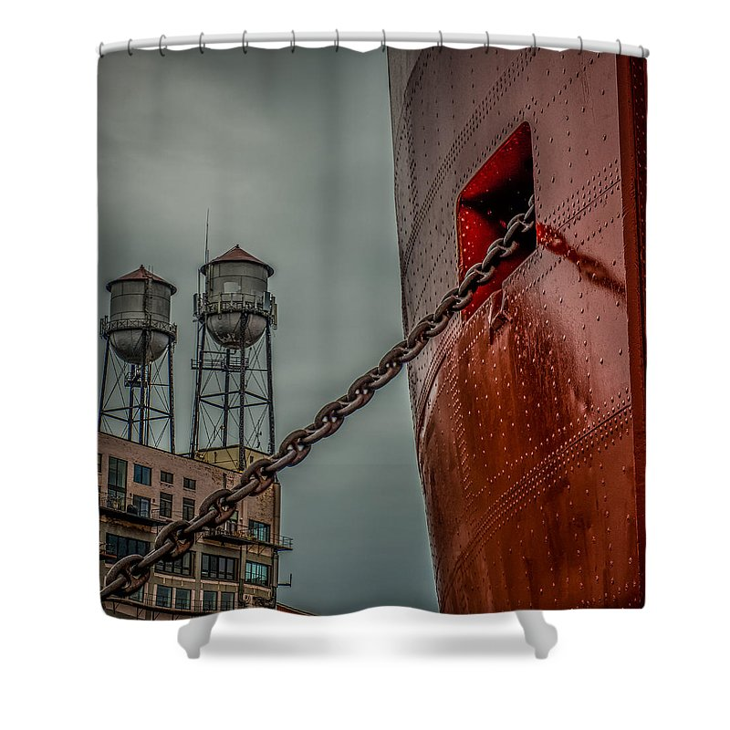 Ss William A Irvin Shower Curtain featuring the photograph Anchor Chain by Paul Freidlund