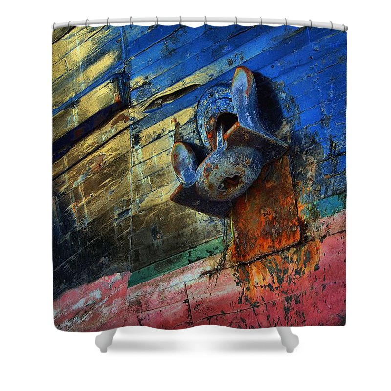Abstract Shower Curtain featuring the photograph Anchored In Change by Lauren Leigh Hunter Fine Art Photography