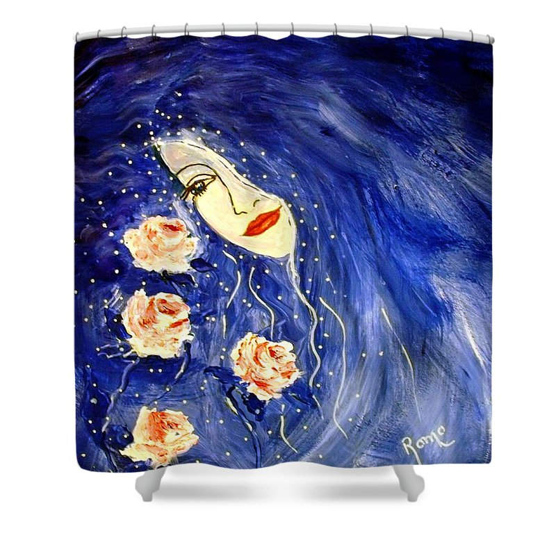 Love Shower Curtain featuring the painting And Her Love Grows... by Robin Monroe