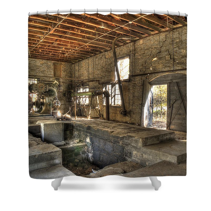 Quarry Shower Curtain featuring the photograph Anderson Quarry-2 by Charles Hite