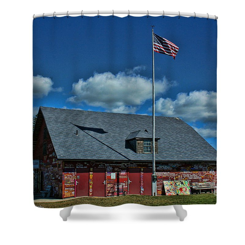 Andersons Dock Shower Curtain featuring the photograph Andersons Dock Door County Wi by Tommy Anderson