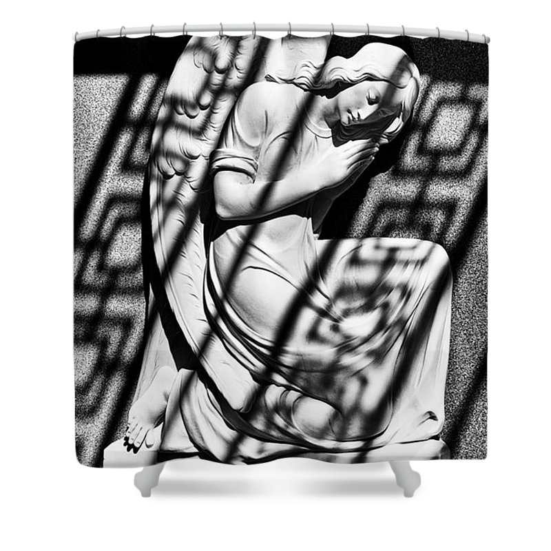 Angels Shower Curtain featuring the photograph Angel In The Shadows 2 by Swank Photography