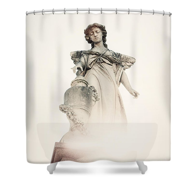 New Orleans Shower Curtain featuring the photograph Angel No 2 by Erin Johnson