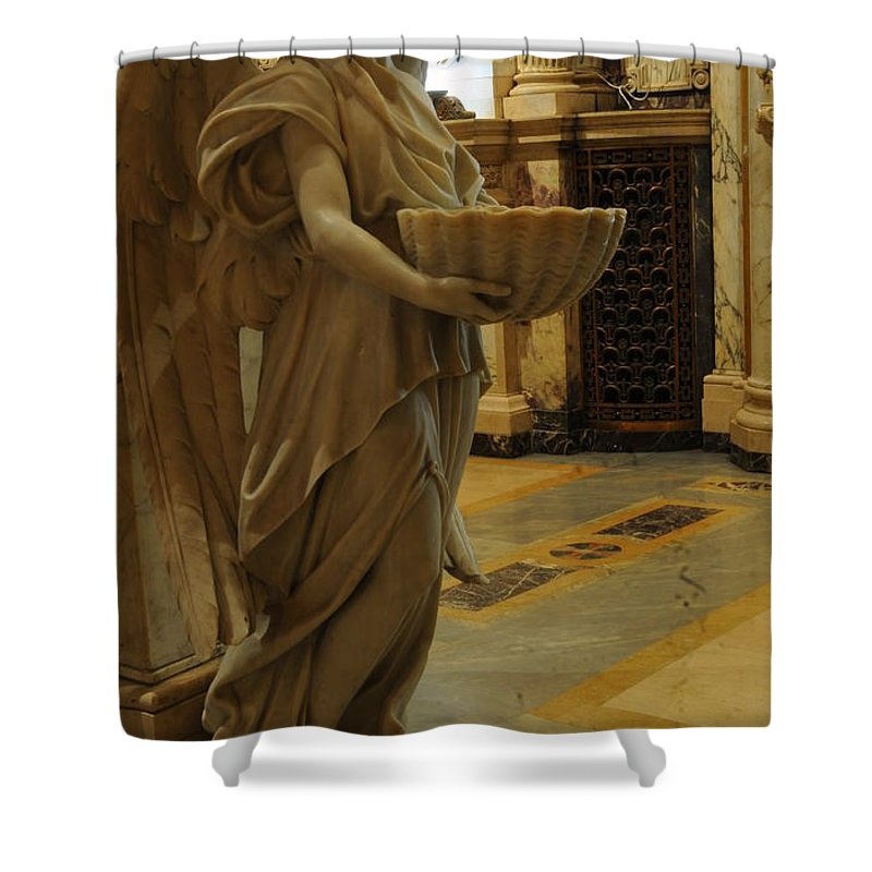 Angel Shower Curtain featuring the photograph Angel Of Grace by Kathleen Struckle