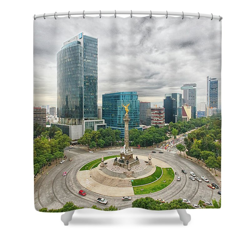 Mexico City Shower Curtain featuring the photograph Angel Of Independence, Mexico City by Sergio Mendoza Hochmann