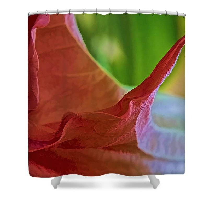 Angel Wing Shower Curtain featuring the photograph Angel Wing Variation Watercolor by Gary Holmes