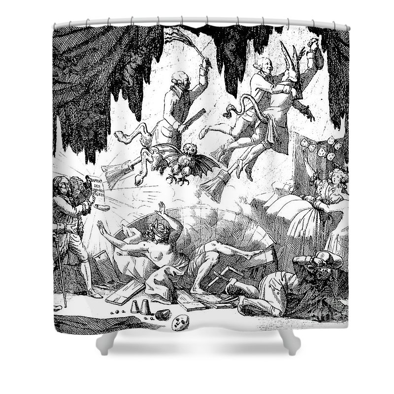 1784 Shower Curtain featuring the photograph Animal Magnetism, 1784-5 by Granger