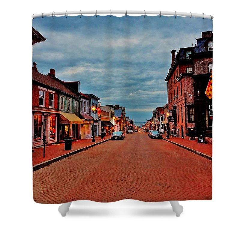 Annapolis Shower Curtain featuring the photograph Annapolis by Benjamin Yeager