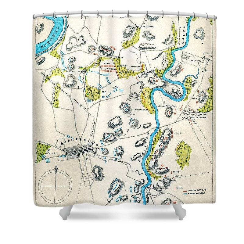 1862 Shower Curtain featuring the photograph Antietam, Maryland, 1862 by Granger