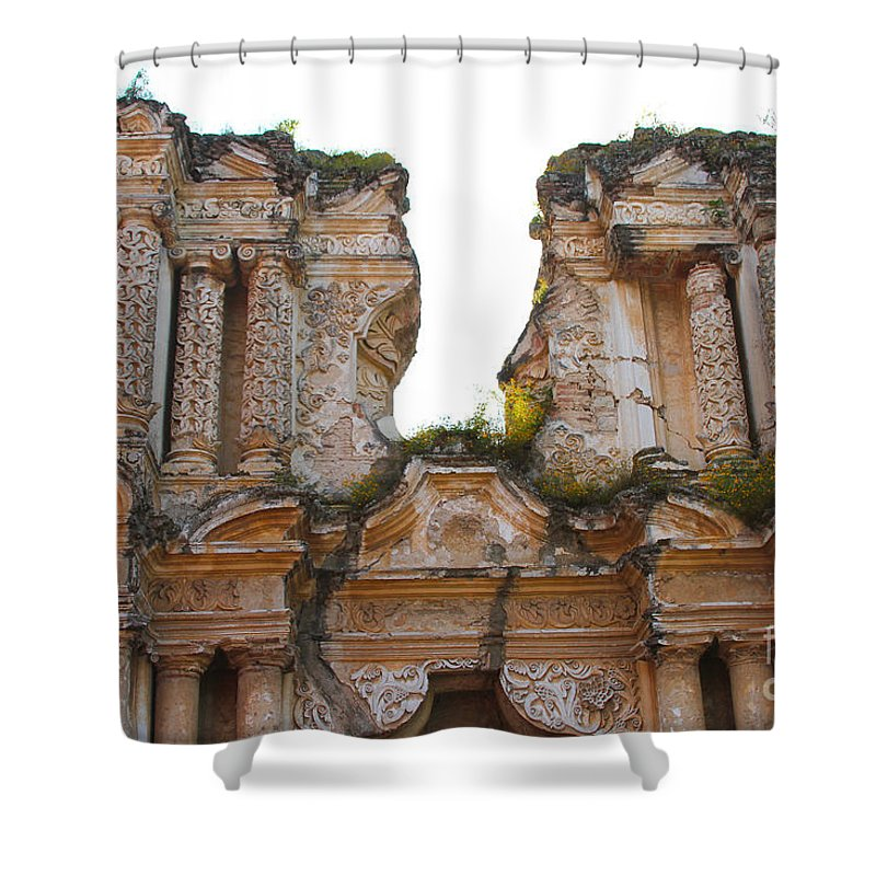 Antigua Shower Curtain featuring the photograph Antigua Ruins by Carey Chen