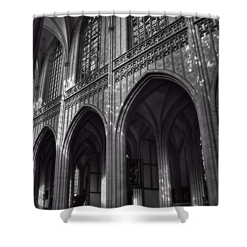 Cathedral Shower Curtain featuring the photograph Antwerp Cathedral by Joan Carroll