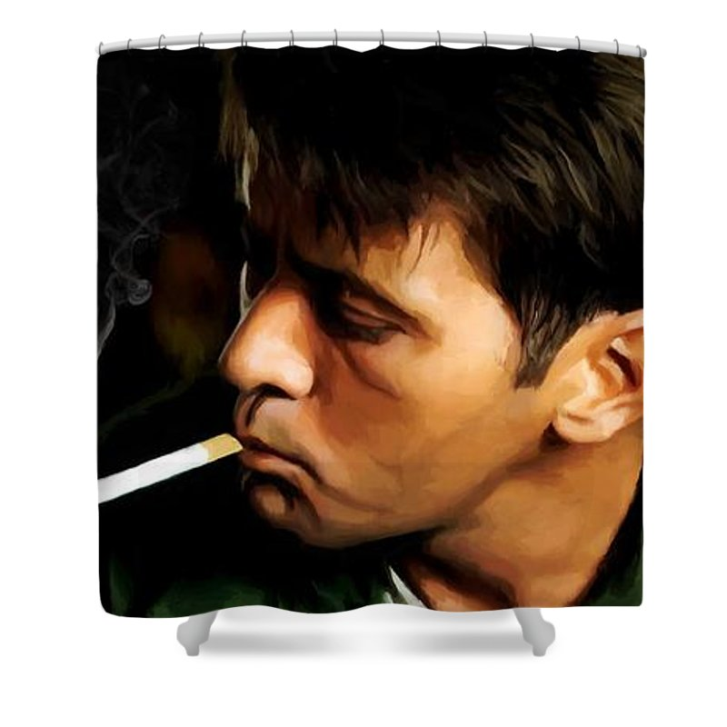 Martin Sheen Shower Curtain featuring the digital art Apocalypse Now Painting #1 by Gabriel T Toro