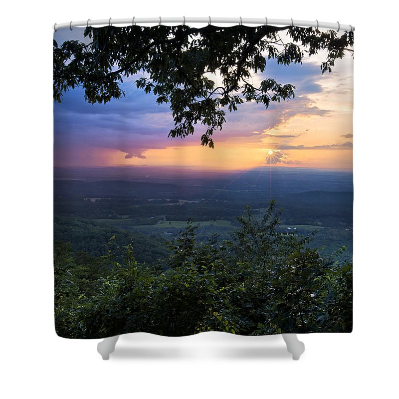 Appalachia Shower Curtain featuring the photograph Appalachian Mountains by Debra and Dave Vanderlaan