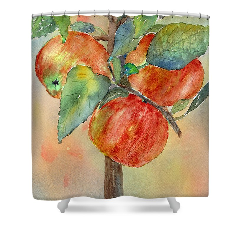 Apple Shower Curtain featuring the painting Apple Tree by Patricia Novack