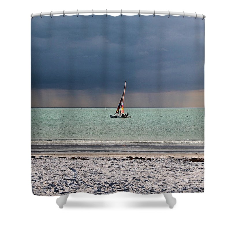 Storm Shower Curtain featuring the photograph Approaching Storm by DJ Florek
