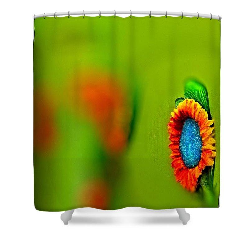 Shower Curtain featuring the digital art Arbitrary by John Holfinger