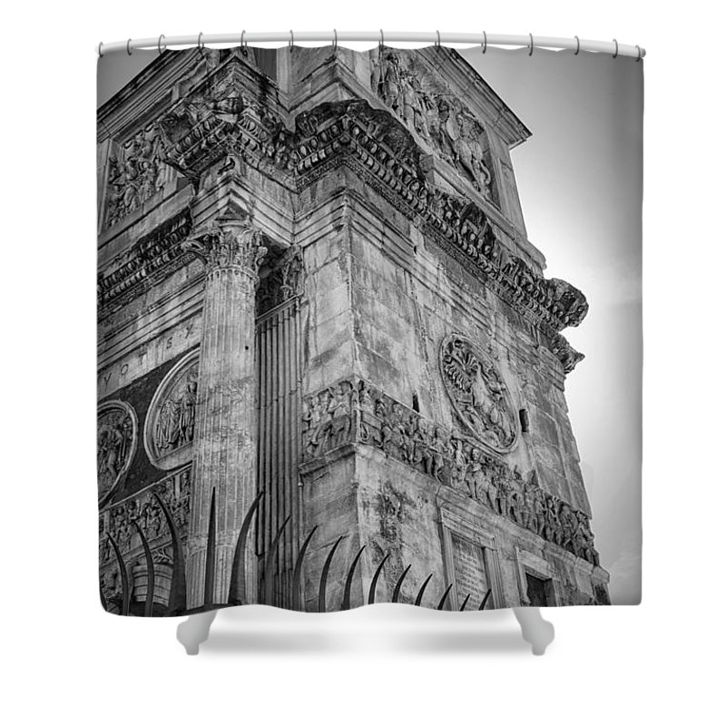 Joan Carroll Shower Curtain featuring the photograph Arch Of Constantine by Joan Carroll