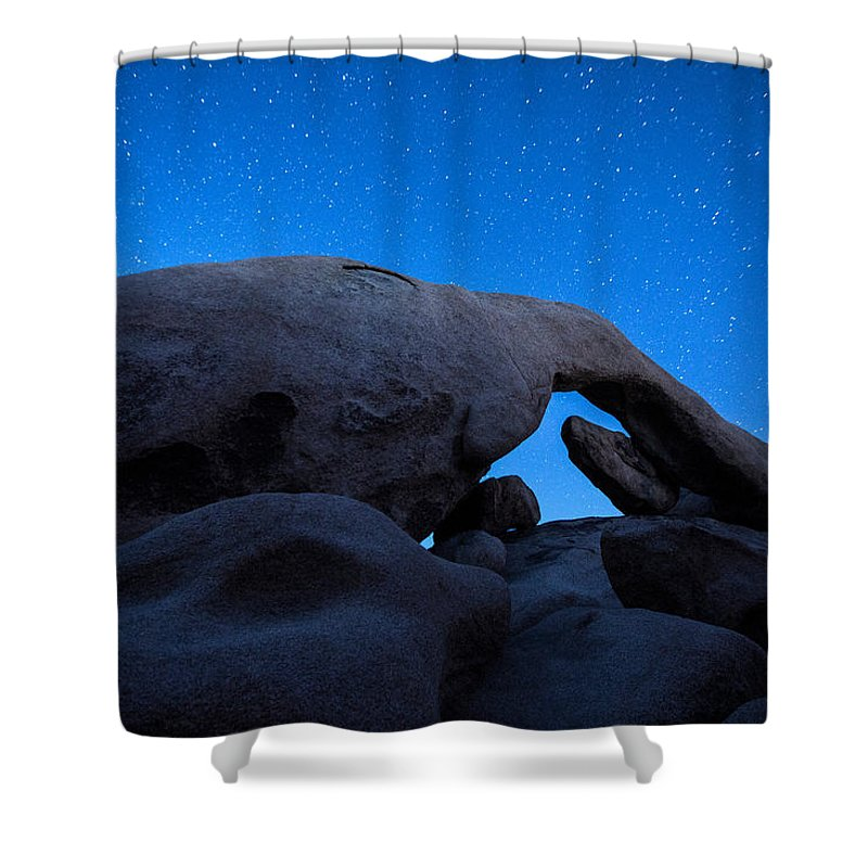 America Shower Curtain featuring the photograph Arch Rock Starry Night 2 by Stephen Stookey