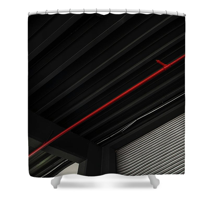 Downtown District Shower Curtain featuring the photograph Architectural Detail by Copyright Dan Reynolds Photography