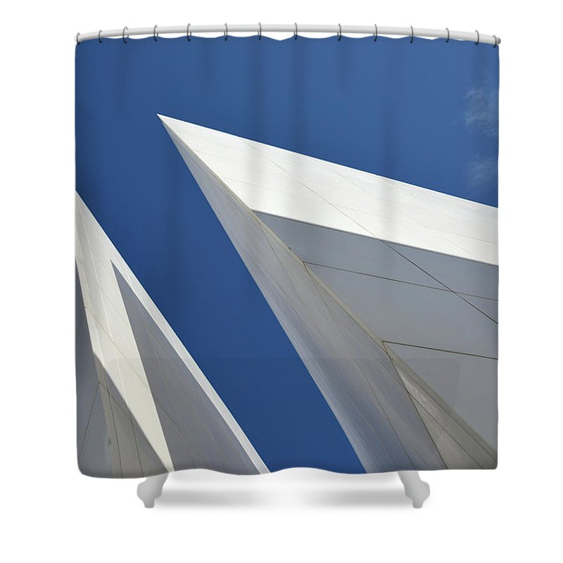 Tranquility Shower Curtain featuring the photograph Architectural Details by Martial Colomb