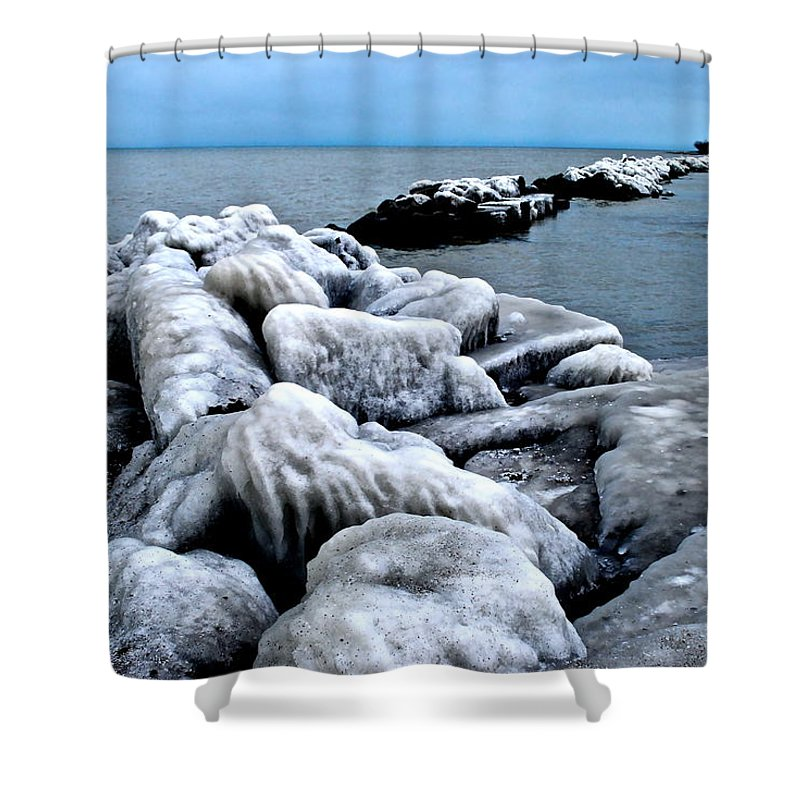 Freezing Shower Curtain featuring the photograph Arctic Waters by Frozen in Time Fine Art Photography