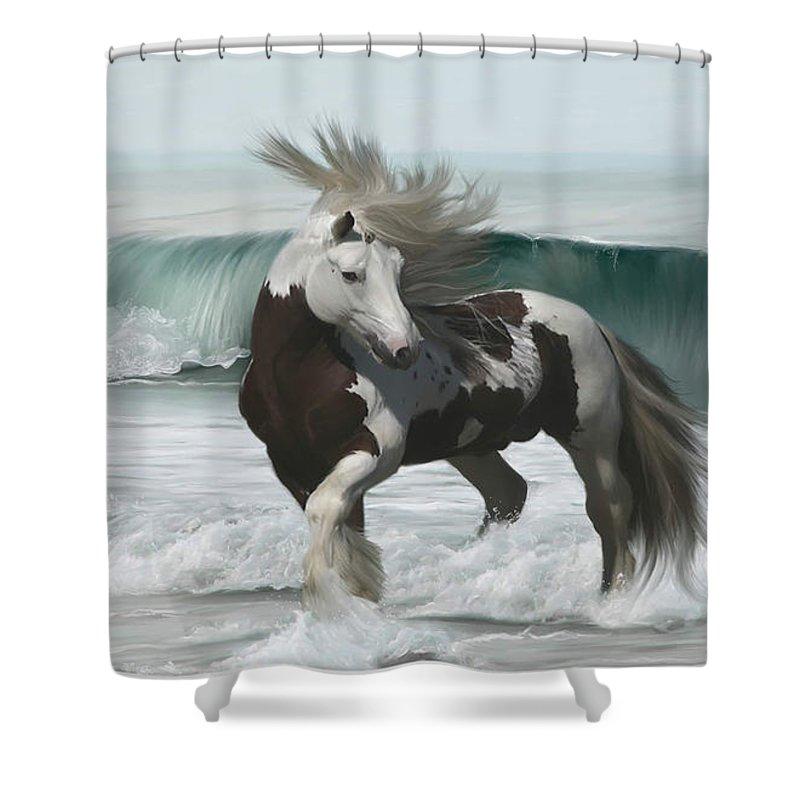 Ard Ri Shower Curtain featuring the painting Ard Ri by Lynn Jackson