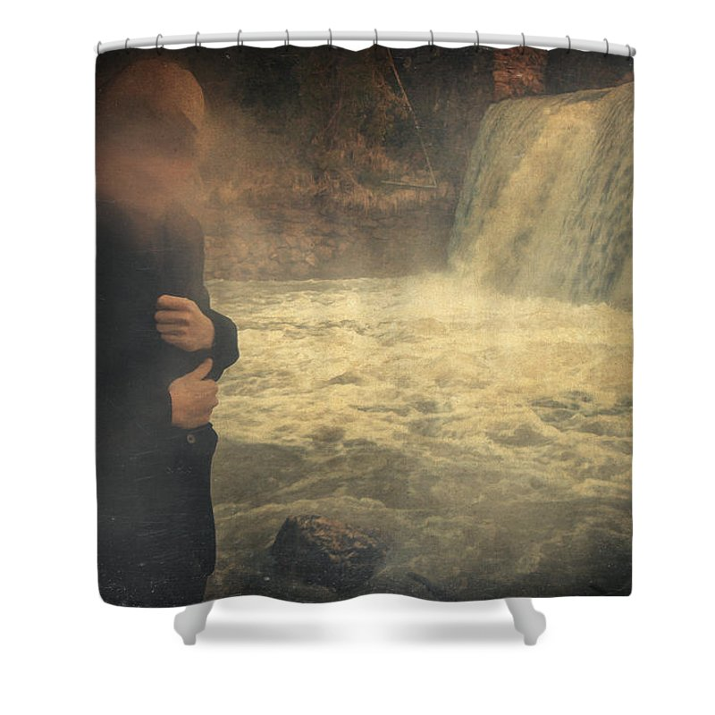 Surreal Shower Curtain featuring the photograph Are You There ? by Zapista
