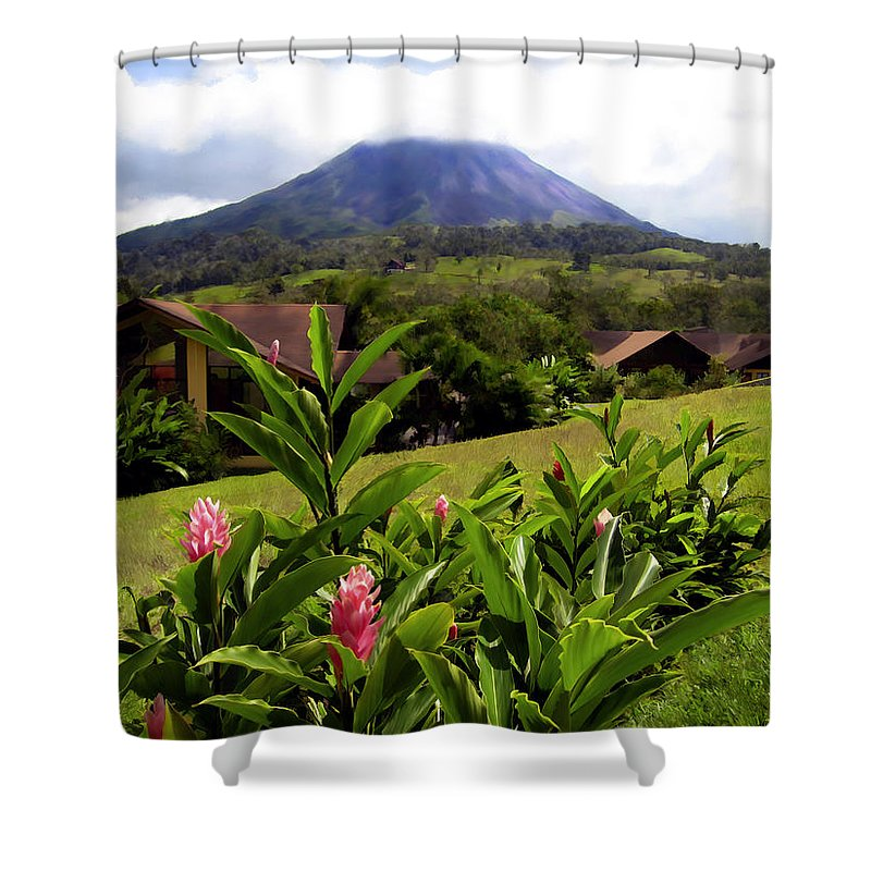 Tropical Shower Curtain featuring the photograph Arenal Costa Rica by Kurt Van Wagner