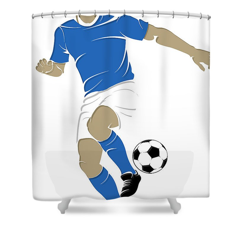 Argentina Shower Curtain featuring the photograph Argentina Soccer Player1 by Joe Hamilton