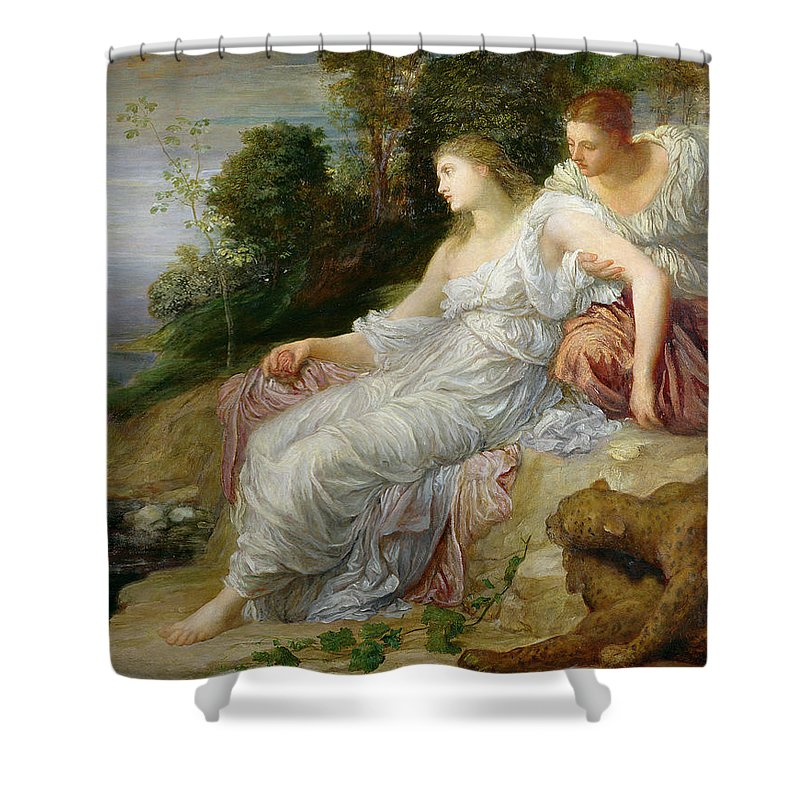 Pre-raphaelite Shower Curtain featuring the photograph Ariadne In Naxos, 1875 Oil On Canvas by George Frederick Watts