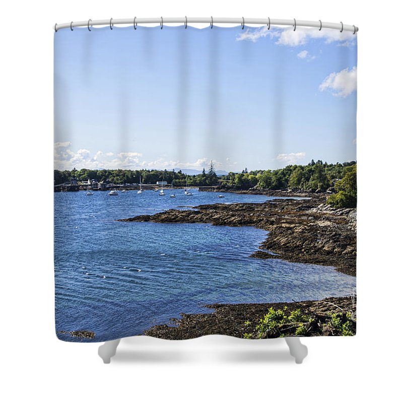 Scotland Canvas Shower Curtain featuring the photograph Armadale Isle Of Skye by Chris Thaxter